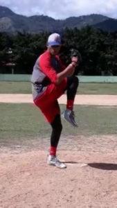 Miguel Rafael Pita Bejerano pitching
