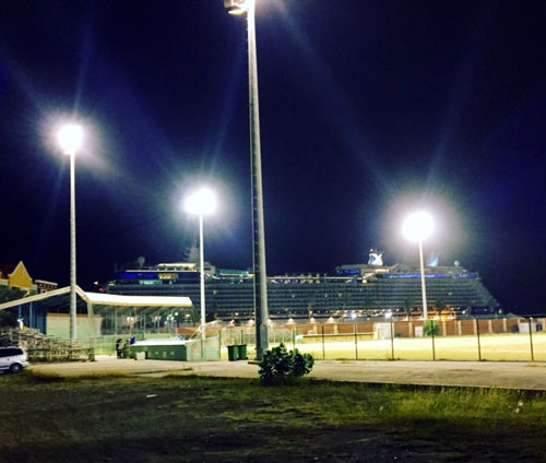 Johnny Vrutaal Stadium in Willemstad, Curacao